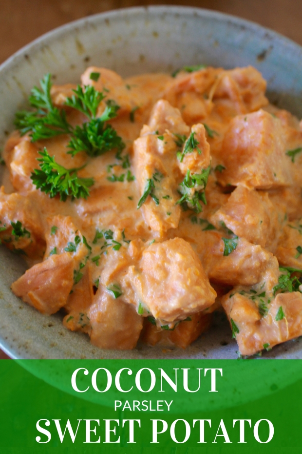 coconut parsely sweet potato