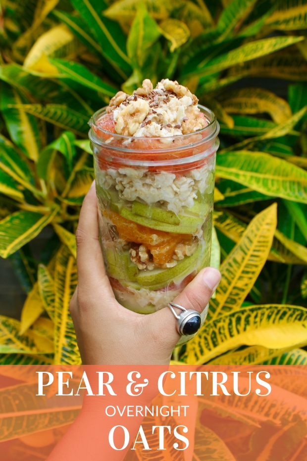 Overnight Oats Pear and Citrus