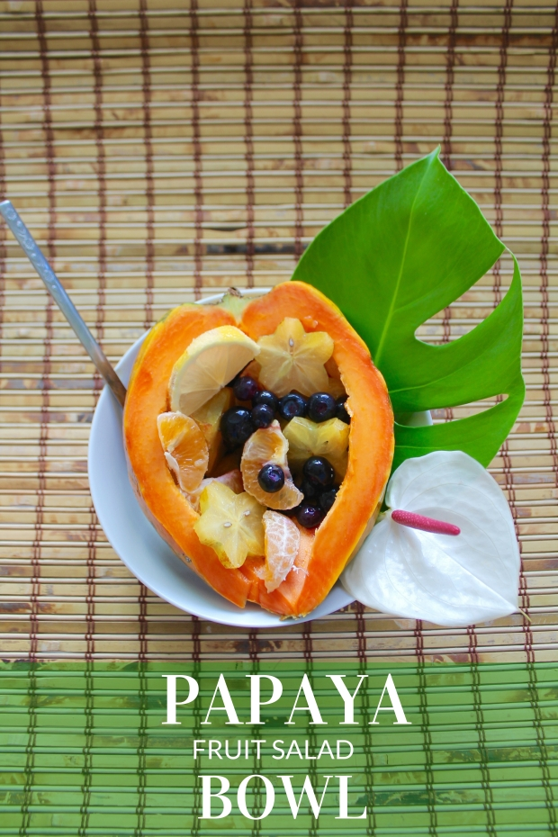 PAPAYA FRUIT SALAD BOWL