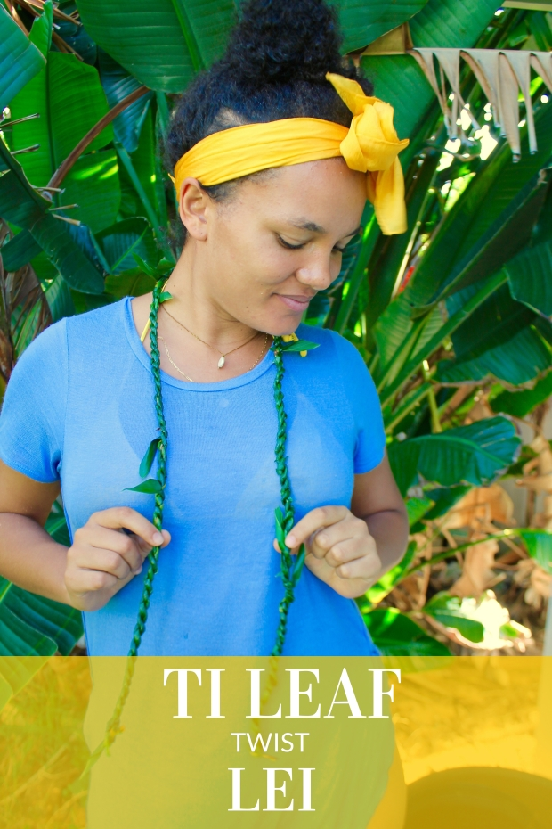 DIY Ti Leaf Twist Lei